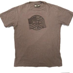Kith Flag Logo T-Shirt Mens XS General Issue Field